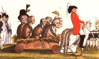 Retour du roi Louis XVI, caricature révolutionnaire